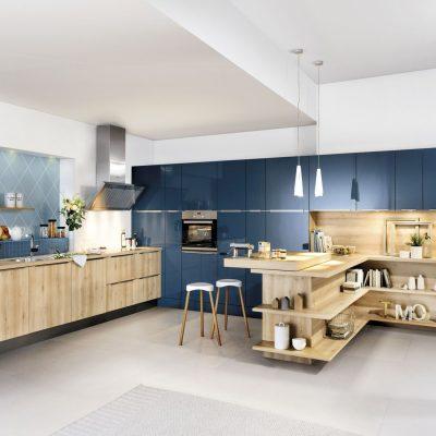 Häcker Küche Classic/ART Laser Brillantblau Miele Center Rehrl Salzburg