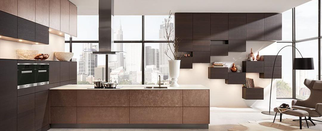 Häcker Küche Bronze Metallic Lack | Miele Center Rehrl Salzburg