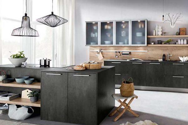 Häcker Küche Graphit und Alteiche | Miele Center Rehrl Salzburg