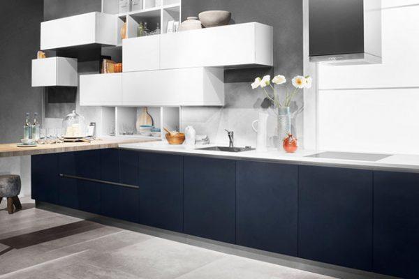 Häcker Küche Samtblau Hochglanz | Miele Center Rehrl Salzburg