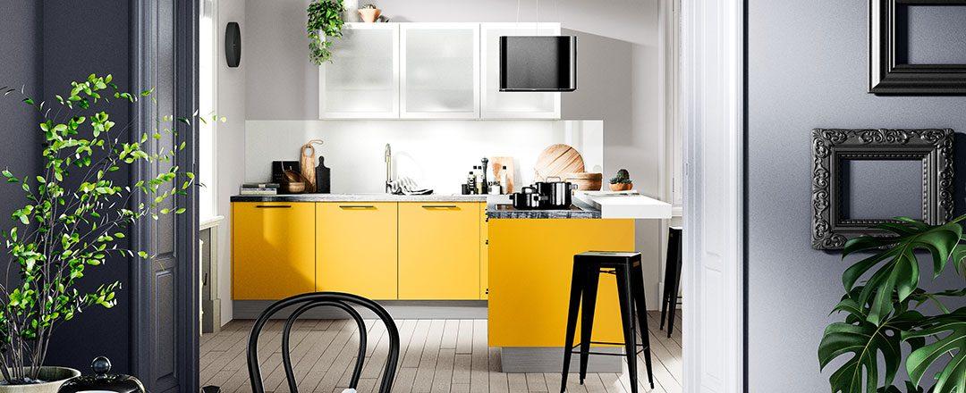 Häcker Küche Uno Goldgelb | Miele Center Rehrl Salzburg