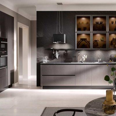 Küchentrends 2020 Häcker Metallic Optik und Haptik im Miele Center Rehrl