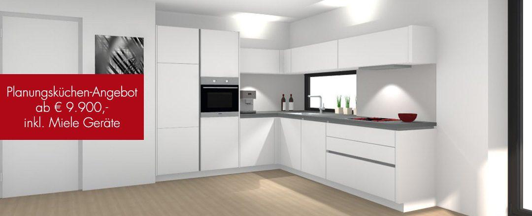 Aktions - Küchen Salzburg | Jetzt neu in unserem Miele Center Rehrl: Eine Planungsküche inklusive Miele Geräte ab € 9.900,-!