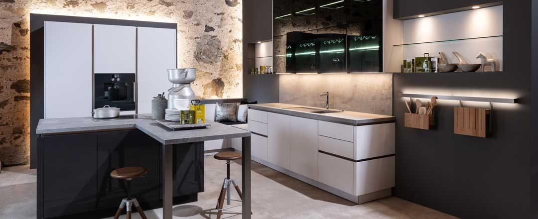 Warendorf Küche W1 Carbon| Miele Center Rehrl Salzburg