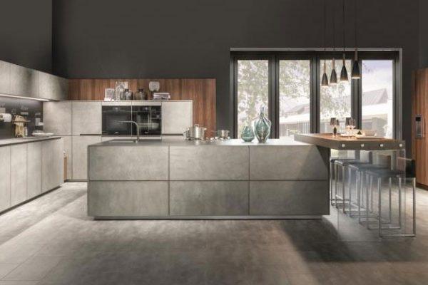 Warendorf Küche Concrete | Grifflose Küche mit Betonfronten | Miele Center Rehrl Salzburg
